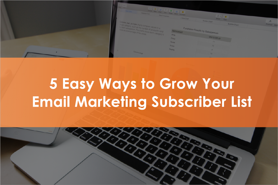 5 easy ways to grow your email marketing subscriber list