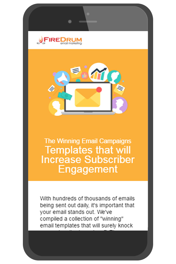 Mobile friendly email newsletter