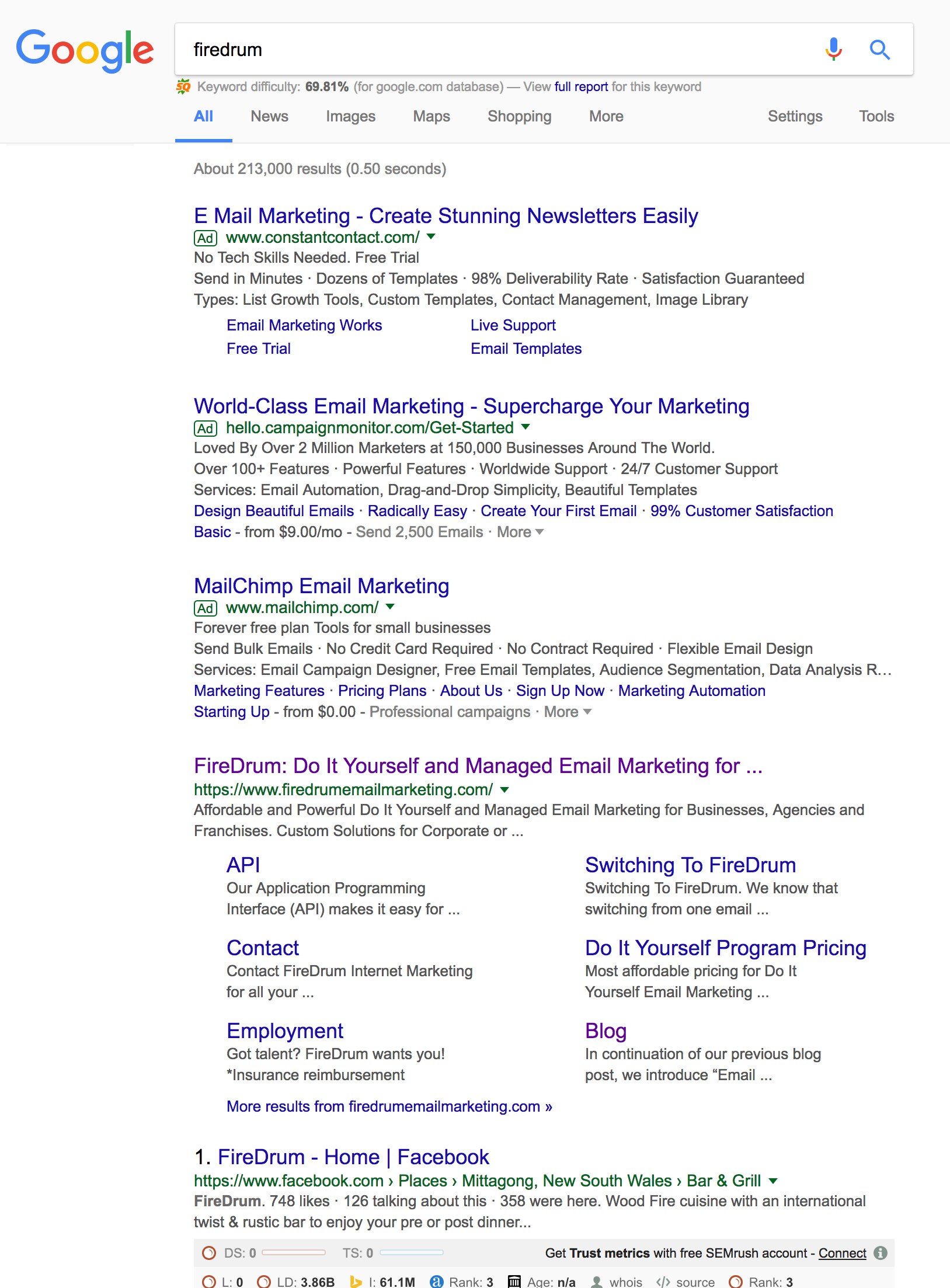 SEO PPC FireDrum Search